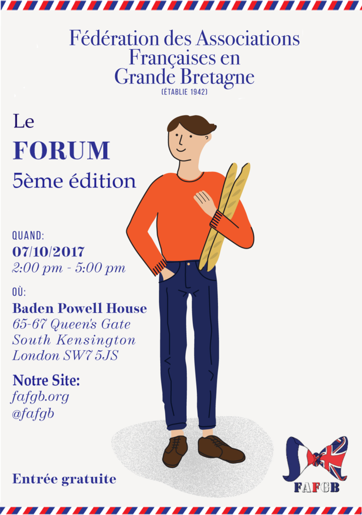 Forum des Associations françaises en Grande Bretagne 2017 @ Baden Powell House | England | United Kingdom
