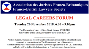 Legal Careers Forum @ The University of Law | England | United Kingdom